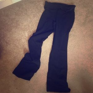 High Waisted Cotton Pants